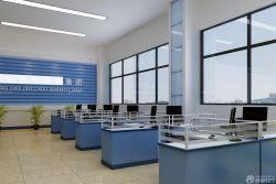 簡約辦公室裝修設計辦公桌隔斷圖片