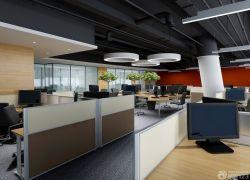 現代簡約辦公室辦公桌隔斷裝修圖