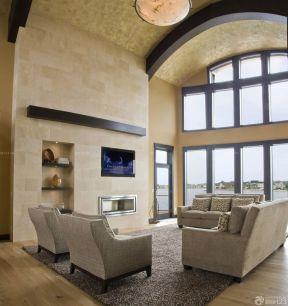 客廳吊頂造型 別墅客廳設計