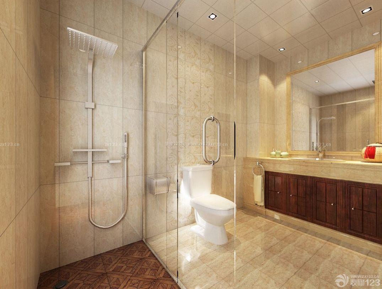 简约家装风格别墅浴室淋浴隔断装修效果图片