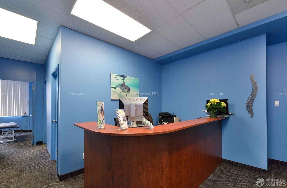 简约图片背景墙墙面效果吊顶前台蓝色装修老面上刷图片