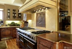 歐式廚房整體櫥柜裝修效果圖片