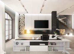 時尚簡潔家庭裝修背景墻