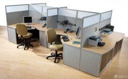 簡約辦公室隔斷式辦公桌設計