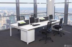 時尚現代辦公室隔斷式辦公桌效果圖