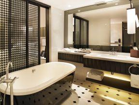 宾馆卫浴装修效果图 推拉门装修效果图片
