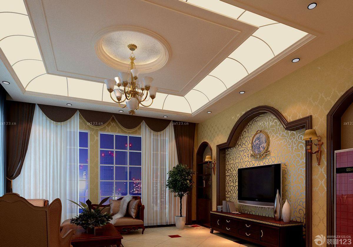 客厅吊顶手绘设计图展示
