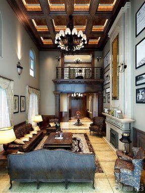 跃层房子装修效果图 吊顶设计装修效果图片