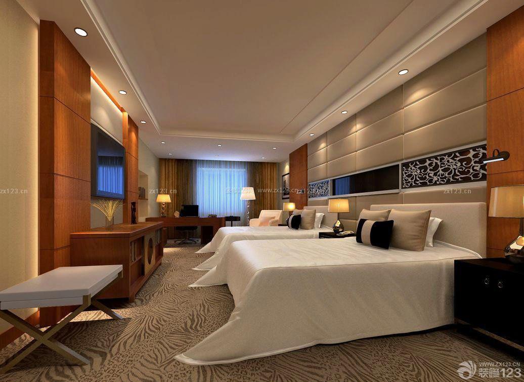 豪华宾馆套房室内电视柜设计图片