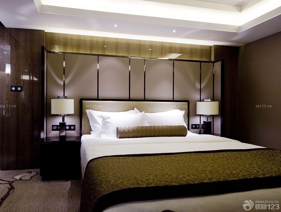 高档宾馆房间室内床头柜设计效果图