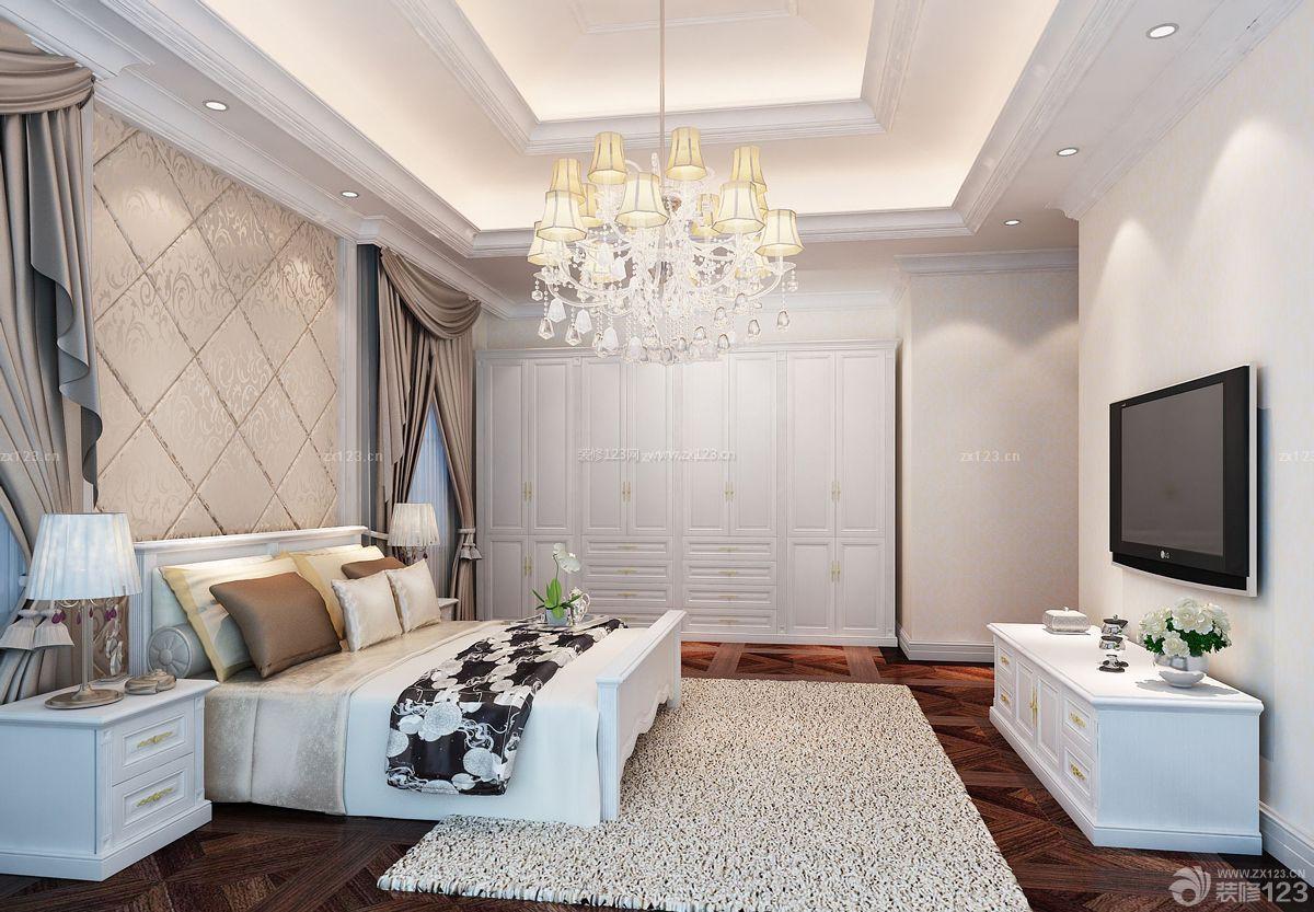 简欧家装卧室设计电视背景墙效果图