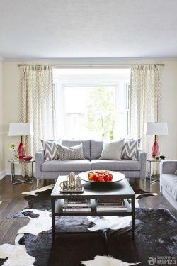 客厅几何图案窗帘装修效果图大全图片