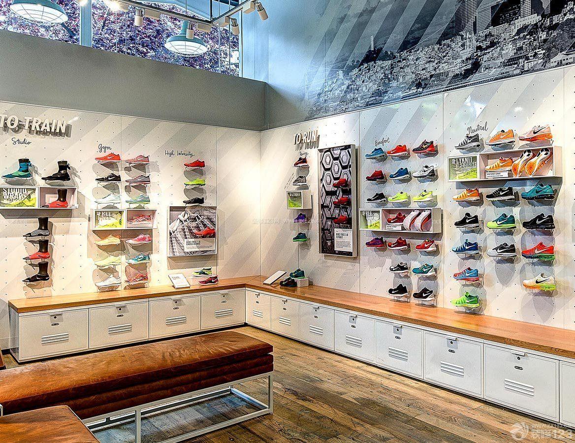 运动鞋店墙面设计装修效果图片