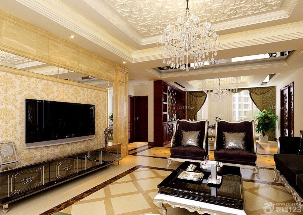 家装效果图 客厅 简欧客厅拼花地砖装修效果图片 提供者:   ←图片