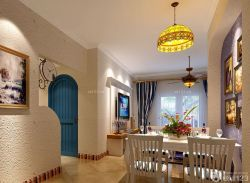 地中海風格小戶型裝修設計客廳效果圖片