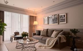 客廳沙發背景墻掛畫 簡約小戶型裝修