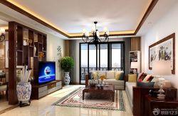 客廳電視背景墻博古架設計
