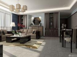 新中式風格客廳博古架裝修效果圖