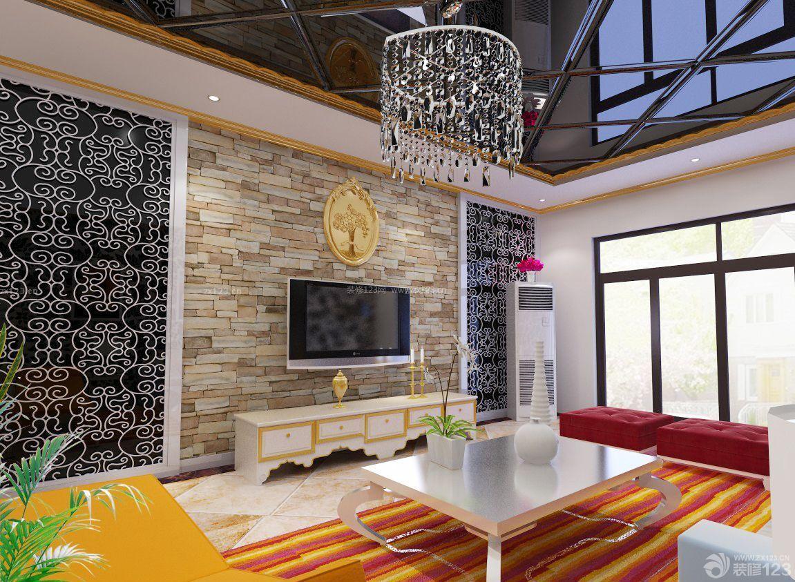 2016客厅影视墙墙面设计装修效果图片