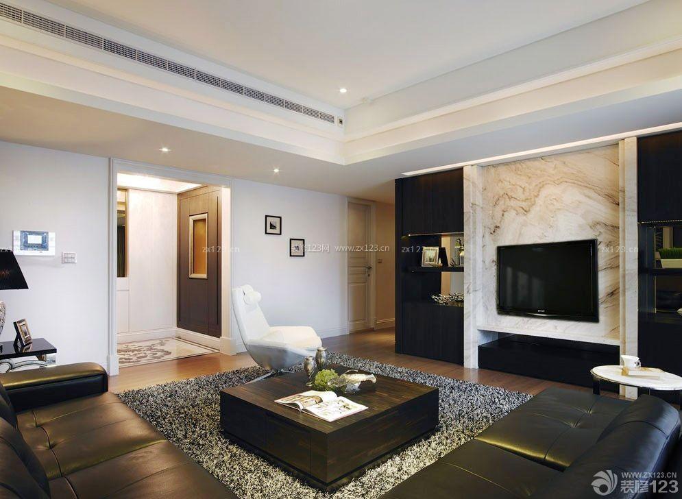 现代风格装修客厅影视墙效果图