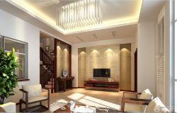 新中式客厅吊灯图片_装修123效果图