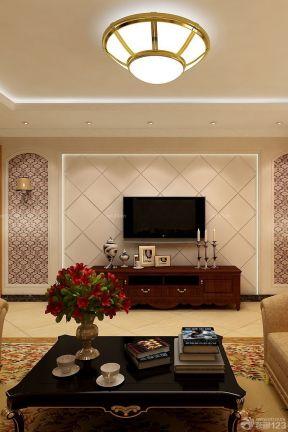 电视机背景墙设计 古典欧式风格