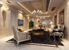 歐式客廳吊頂 現代歐式風格裝修