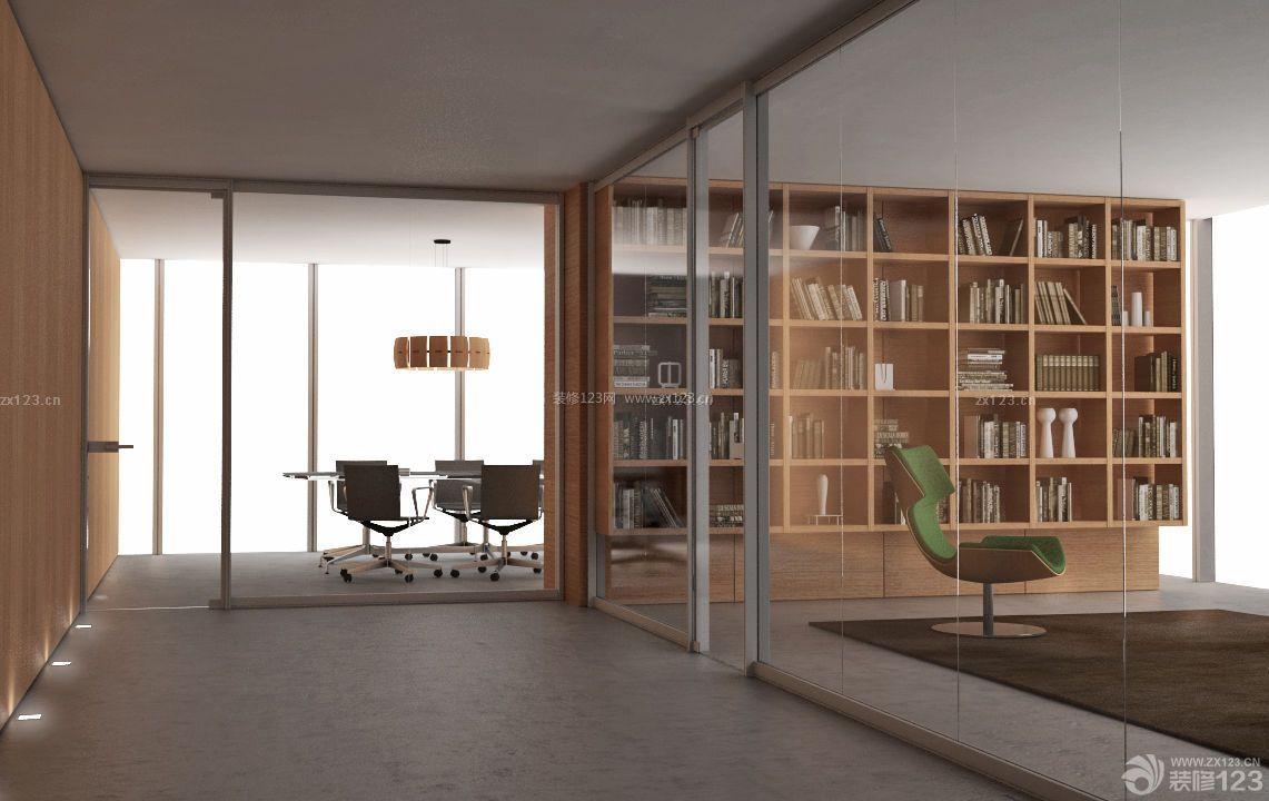 高档写字楼办公隔断墙装修效果图片