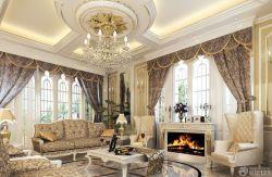 奢華別墅歐式客廳吊頂裝修大全