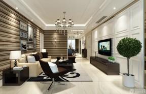 客厅隔断墙 现代欧式风格