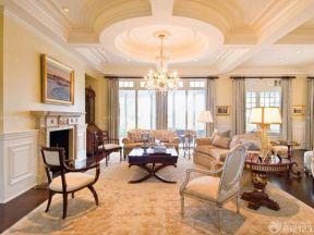 歐式客廳吊頂 簡歐式風格