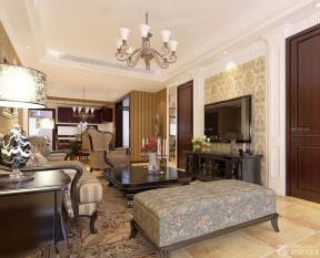 歐式客廳吊頂 簡約歐式風格客廳
