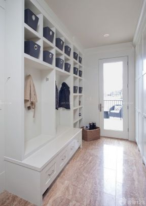 客廳玄關鞋柜效果圖 美式家裝效果圖