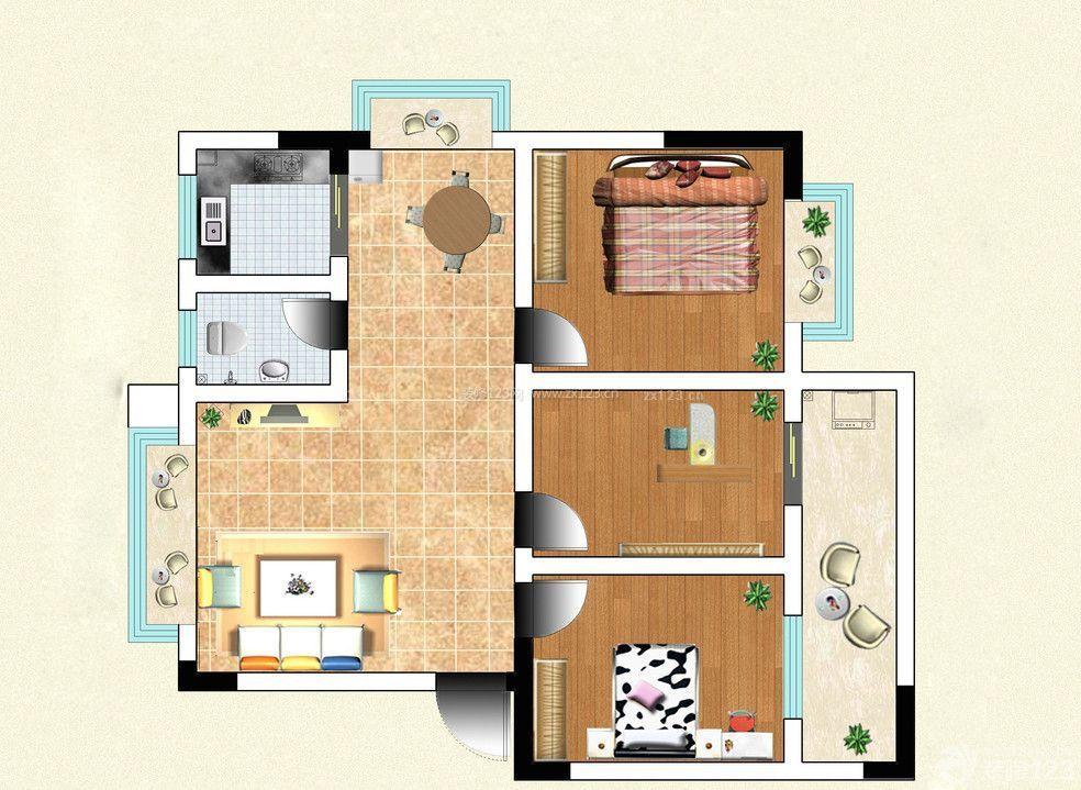 农村住房设计客厅平面图