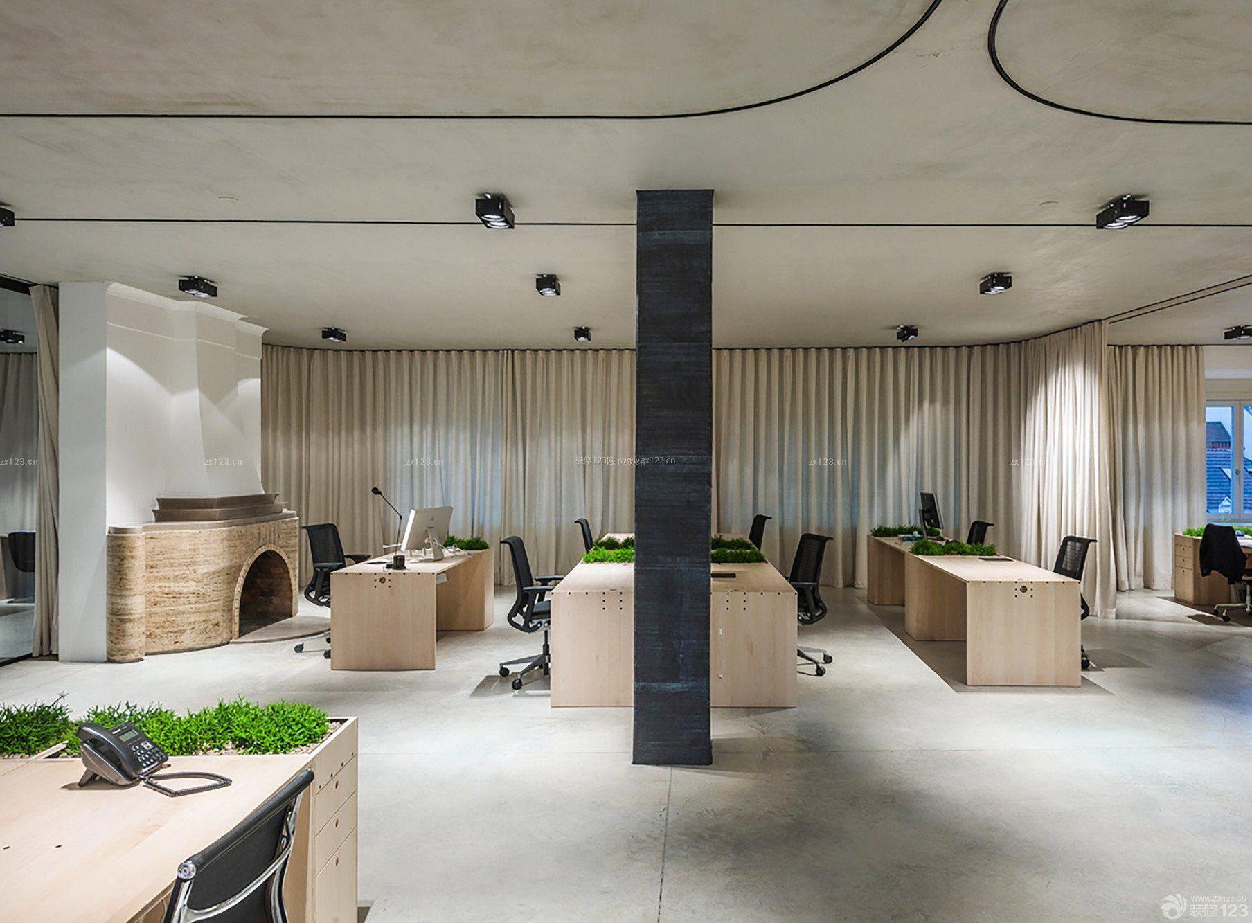 大型办公室窗帘装修效果图片欣赏