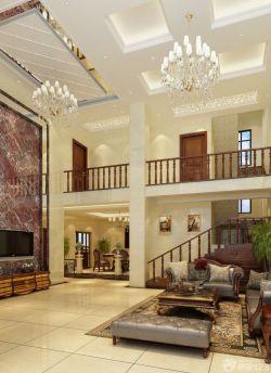 复式别墅客厅地板砖效果图