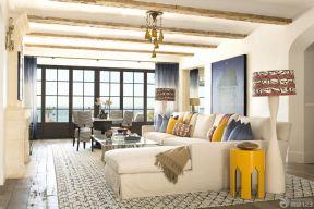 客廳吊頂圖 簡約歐式風格