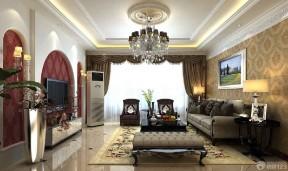 歐式客廳窗簾 小戶型家裝圖片
