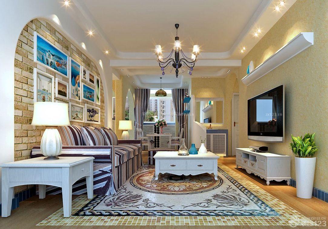家装效果图 地中海 地中海客厅简约电视背景墙 提供者