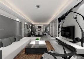 現代簡約客廳 電視墻裝飾效果圖大全