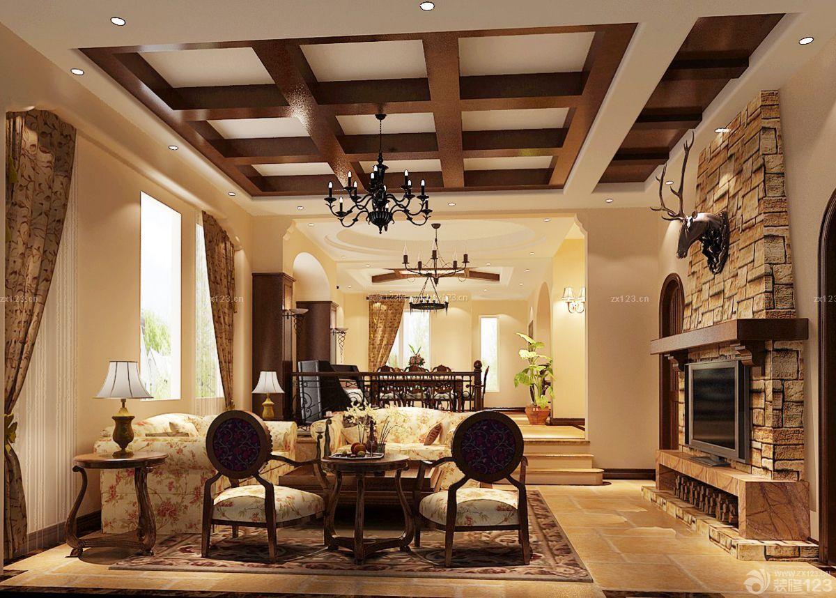 客厅吊顶装饰设计图