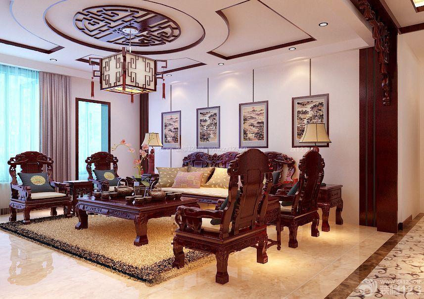 家装效果图 中式 农村中式别墅客厅天花吊顶图片大全 提供者:   ←