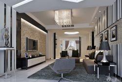 复式楼现代中式客厅天花吊顶效果图图片