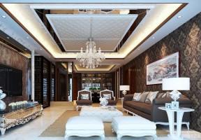 客廳吊頂設計圖 歐式簡約風格