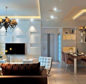 時尚小戶型客廳飯廳裝修效果圖-每日推薦