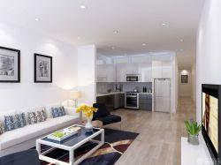 簡約風格開放式廚房裝修裝飾設計圖