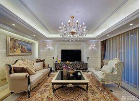 客廳吊頂造型效果圖 現代簡約裝修風格