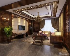 中式客廳吊頂效果圖 現代時尚裝修