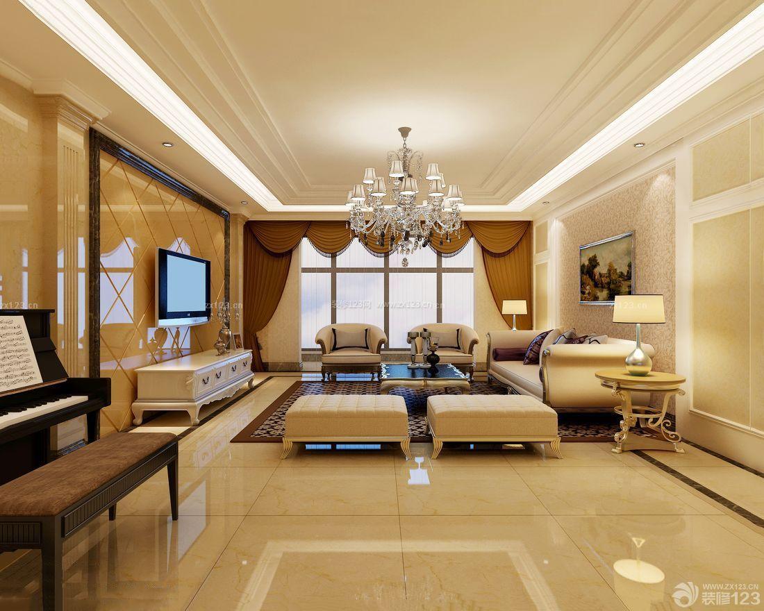 欧式40平米客厅装修图