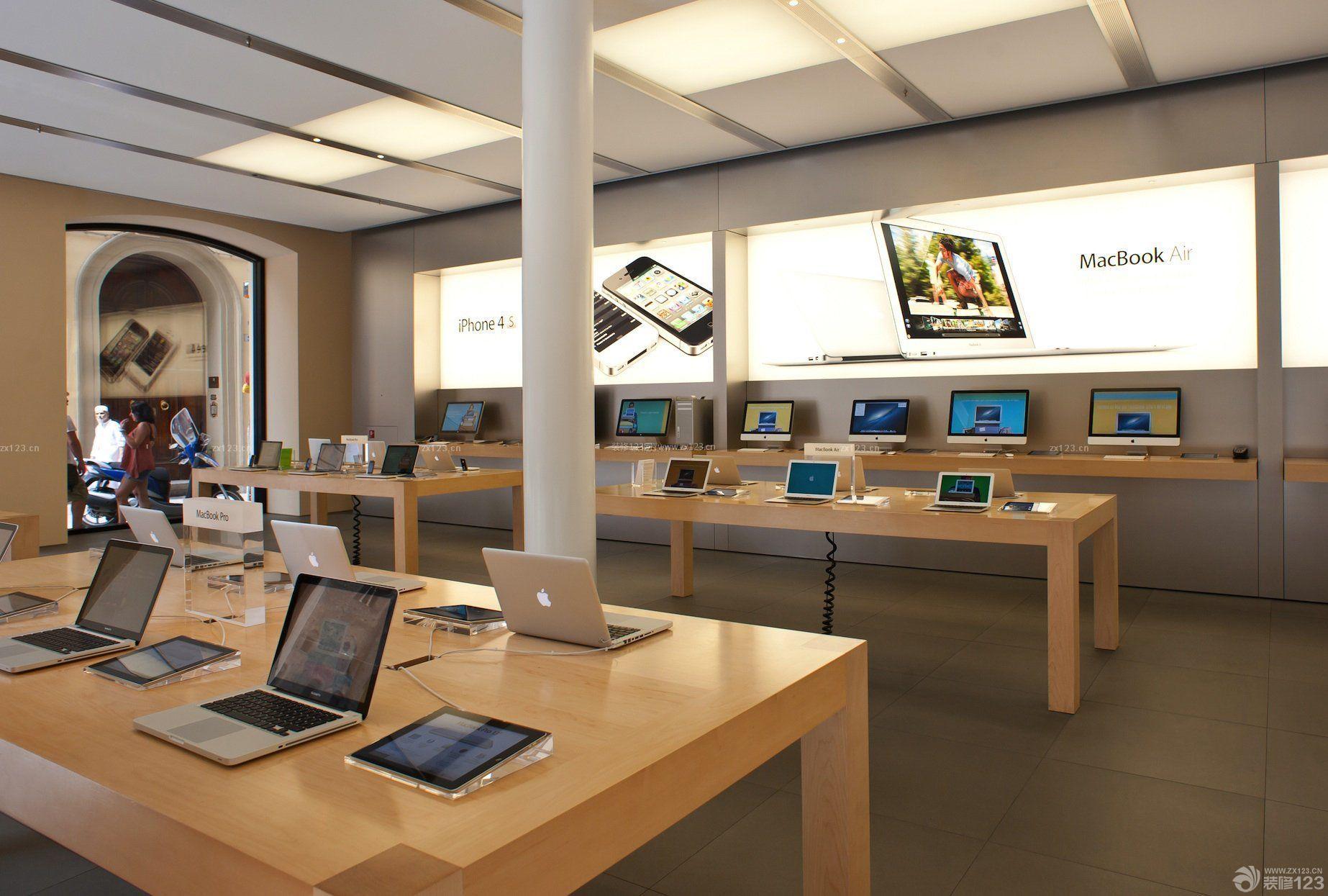 商场店面室内柱子装修效果图片